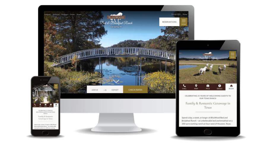 Resort Website Design - Blisswood