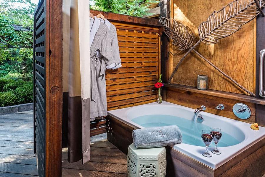 Resort marketing unique amenities - outdoor bath